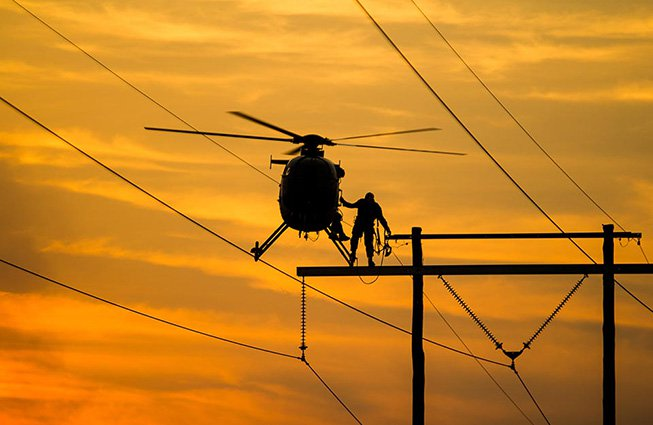 Alabama Transmission Line Construction Helicopters